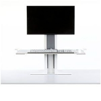 Height adjustable keyboard and monitor system